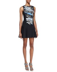 Tibi Baja Embroideredjersey Backcutout Dress - Lyst