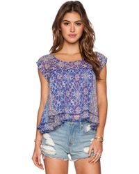 Gypsy 05 - Georgette Hi-lo Crop Top - Lyst