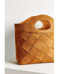 Ecote - Suede Woven Elbow Bag - Lyst