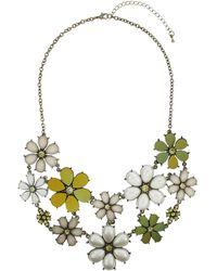 Topshop White Flower Collar - Lyst