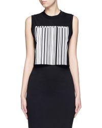 Alexander Wang | Barcode Print Cropped Tank Top | Lyst
