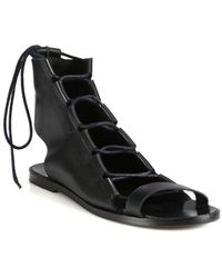 Pierre Hardy Leather Lace-up Sandals - Lyst