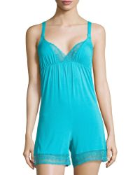 La Perla - Lace-Trim Short Jumpsuit - Lyst