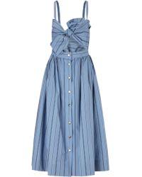 Jill Stuart Blue Stripe Cotton Nikki Dress - Lyst