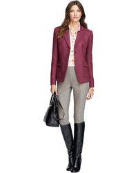 Brooks Brothers Stellita Fit Twobutton Wool Herringbone Jacket - Lyst