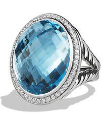 David Yurman Oval Ring With Diamonds - Lyst