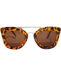 Pixie Market - Tortoise Anya Sunglasses - Lyst