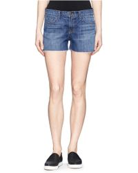 J Brand 'Cut Off' Fray Cuff Denim Shorts - Lyst