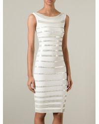 Hervé Léger Sequin Detail Dress - Lyst