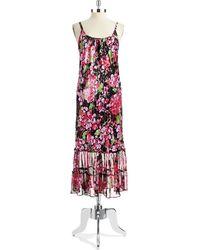 Oscar de la Renta Flower Blossom Sleep Gown - Lyst