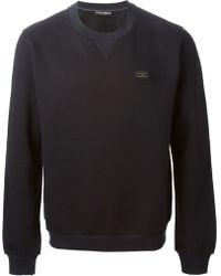 Dolce & Gabbana Classic Crew Neck Sweatshirt - Lyst