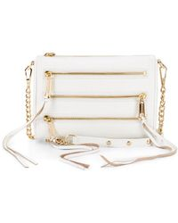 Rebecca Minkoff Mini 5-Zip Crossbody white - Lyst
