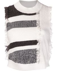 3.1 Phillip Lim Fringed Sweater - Lyst