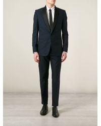 Maison Margiela Blue Tuxedo Suit - Lyst