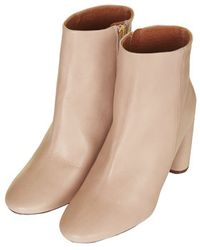 Topshop Magnum Mid Ankle Boots - Lyst