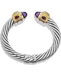 David Yurman Renaissance Bracelet with Amethyst Iolite Gold - Lyst