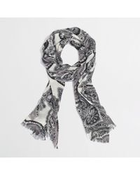 J.Crew Factory Printed Tissue Scarf - Lyst