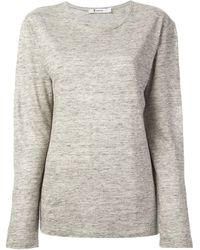 T By Alexander Wang Long Sleeved Top - Lyst