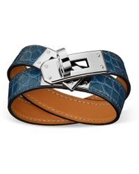 Hermès Kelly Double Tour blue - Lyst