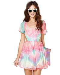 Nasty Gal Rainbow Flow Dress - Lyst
