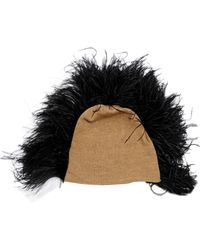 Gianluca Capannolo - Feathers Embellished Beanie Hat - Lyst