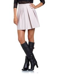 Patrizia Pepe Corollastyle Miniskirt in Stretch Technical Fabric - Lyst