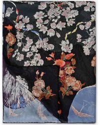 Valentino | Garden Party Print Silk Stole 70x180 | Lyst