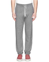 Maison Kitsuné French Terry Sweatpants gray - Lyst