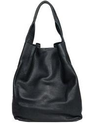 Christopher Kon Leather Tote black - Lyst