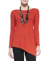Eileen Fisher Long Sleeve Asymmetric Jersey Tunic - Lyst