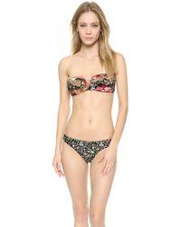 Zimmermann Trinity Frill Bikini Top - Multi - Lyst