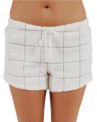 Roudelain - Windowpane Plush Shorts - Lyst