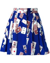 Olympia Le-Tan Sweat Flared Skirt - Lyst