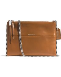 Coach Crossbody Bag in Retro Glove Tan Leather - Lyst