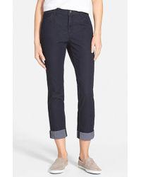 Lafayette 148 New York Curvy Fit Crop Slim Leg Jeans - Lyst