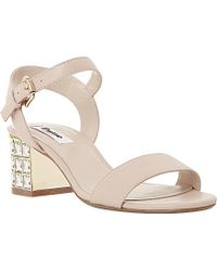 Dune Harah Jewelled Block Heel Sandals - Lyst
