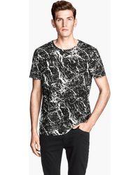H&M Patterned Tshirt - Lyst