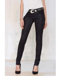 Nasty Gal Just Female Used Leather Skinny Trouser - Lyst