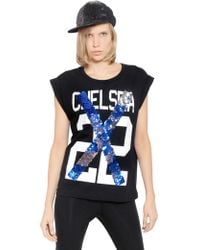 N.e.p.a.l. Downtown Embellished & Printed Cotton T-Shirt - Lyst