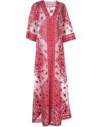 Naeem Khan - Long Embroidered Coat - Lyst
