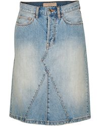 Marc By Marc Jacobs Icon Mid-Length Denim Skirt - Lyst