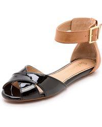 Splendid Atlanta Ankle Strap Sandals Bright Coral - Lyst