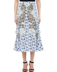 Stella McCartney Crêpe De Chine Skirt - Lyst