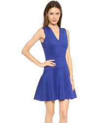 Rebecca Taylor V Neck Dress Cobalt - Lyst