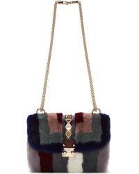 Valentino Blue Mink Shoulder Bag - Lyst