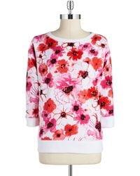 Jones New York Floral Sweater - Lyst