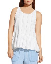 Two By Vince Camuto - Striped Peplum Tank - Lyst