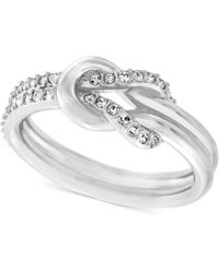 Swarovski Voile Crystal Knot Ring - Lyst