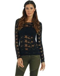 Free People Floral Stretch Pullover - Lyst