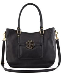 Tory Burch Pebbled Amanda Hobo - Lyst